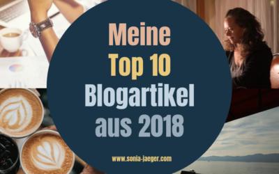 Meine Top 10 Blogartikel aus 2018