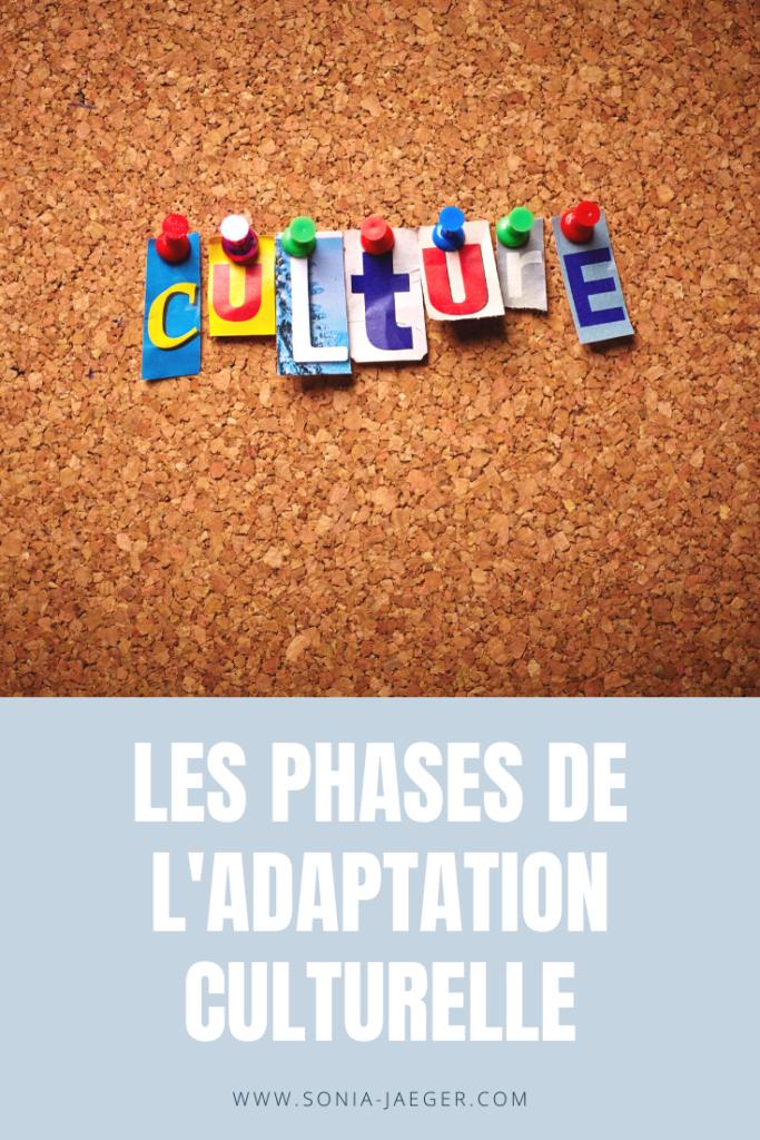 Les phases de l'adaptation culturelle