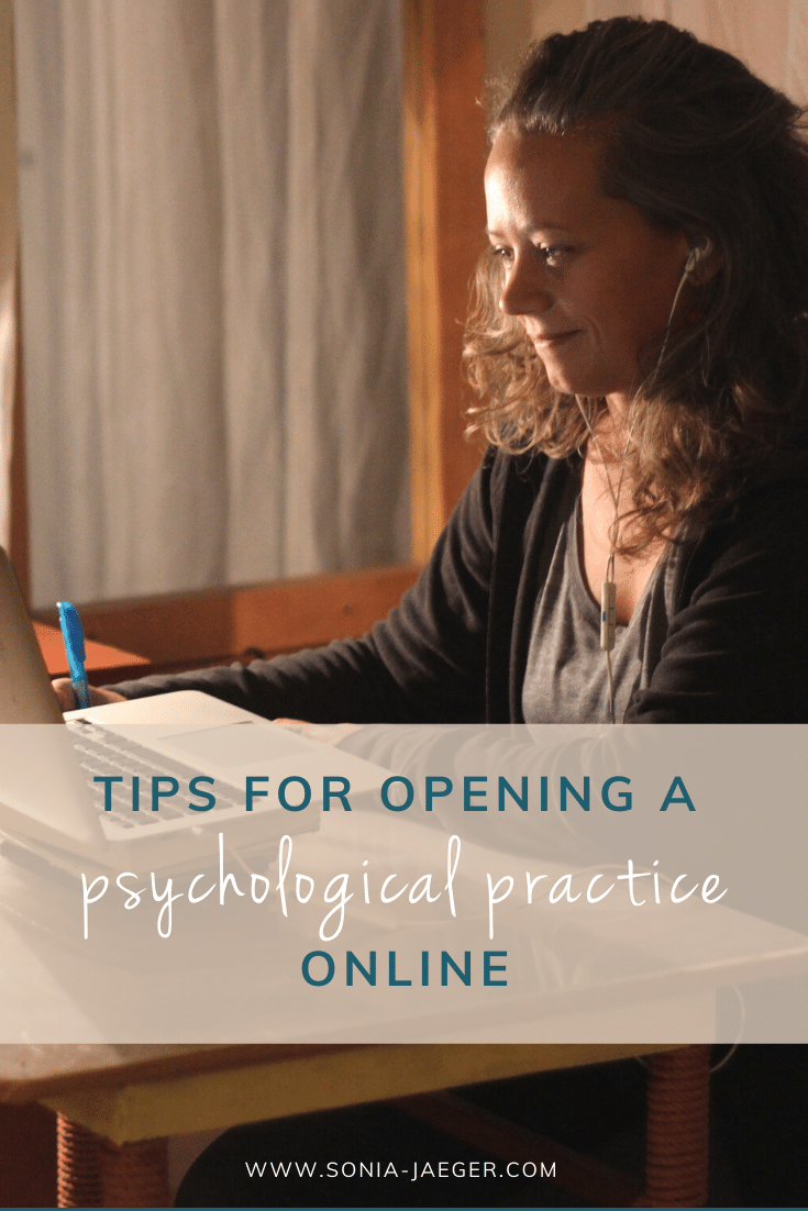 Tips for opening a psychological practice online